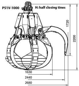 Chwytak do złomu P51V